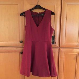 Hello World Wine Red dress